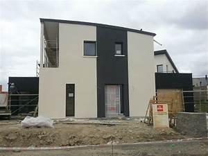 La Maison Du Blanc : maison crepis gris la salle de bains est nappe de ~ Zukunftsfamilie.com Idées de Décoration