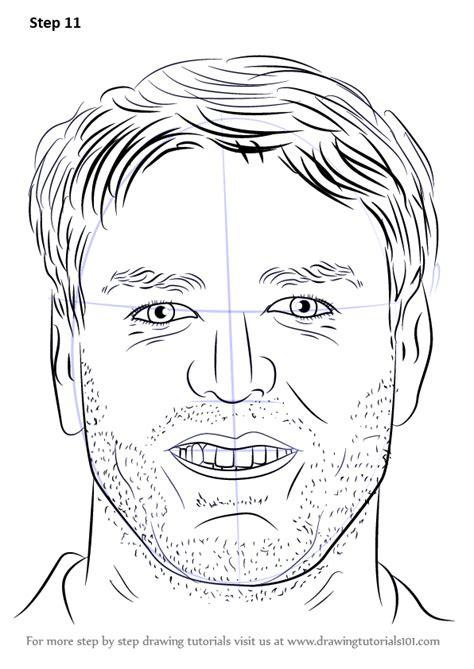 learn   draw carson palmer footballers step  step