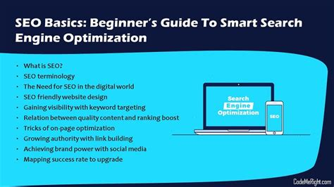 Seo Guide by Seo Basics Beginner S Guide To Smart Search Engine