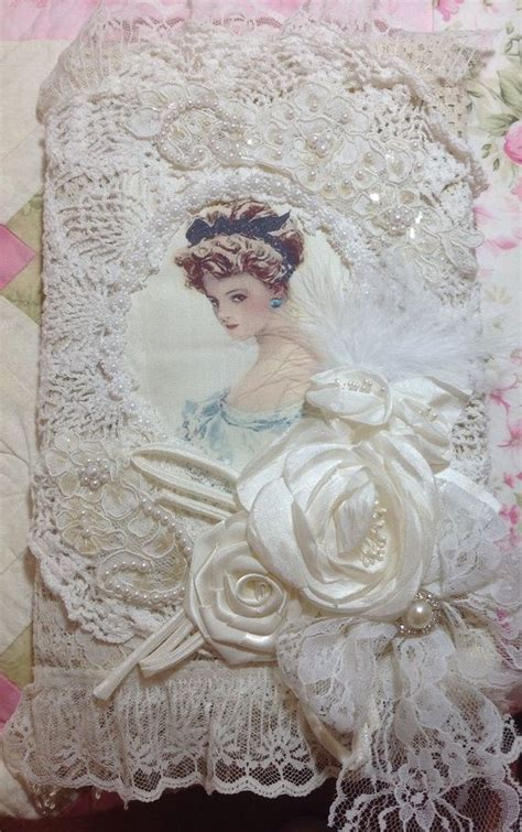 shabby fabrics cover shabby chic altered composition book lace vintage and composition