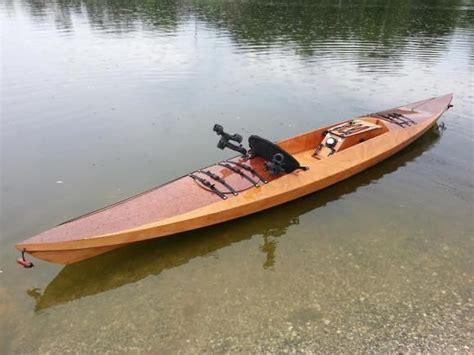 sea island sport wooden sit  top kayak    build wood work pinterest boating