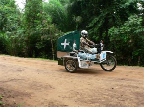 African Motorcycle Ambulance Allows For Mobility In Very