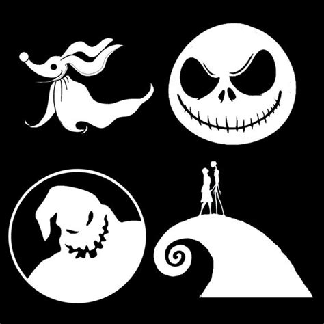nightmare  christmas vinyl decals set   stickers