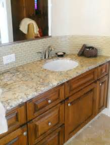 glass tile backsplash ideas bathroom 30 pictures of bachsplash bathroom subway tile