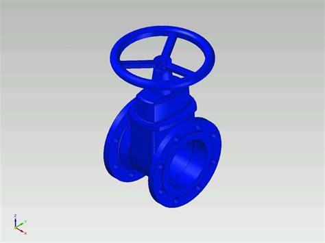 gate valve dn pn step iges  cad model grabcad