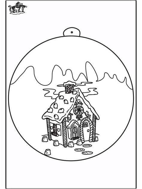 christbaumkugel haus ausmalbilder weihnachten
