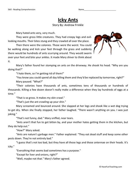 3rd grade reading comprehension worksheets search