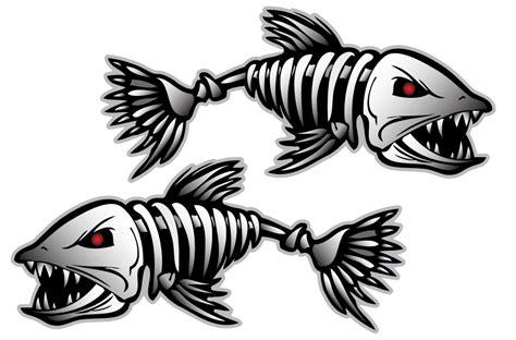 Lund Boats Vector Logo by Bonefish Sticker Decal Vinyl Bones Skeleton Kayak Fishing