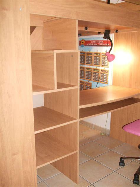 bureau en hauteur combiné lit en hauteur avec escalier bureau et