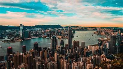 Architecture Metropolis Kong Hong Buildings 4k Background