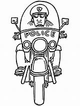 Coloring Police Pages Officer Boys Printable Recommended Mycoloring sketch template