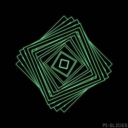 Square Spin Pi Aesthetic Illusion Optical Faded