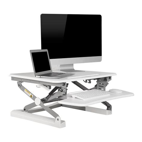 flexispot height adjustable stand up desk 27 in w