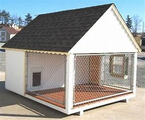 Heated dog kennels and runs home improvement for Large breed dog house