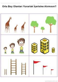 math worksheets  tall  short images