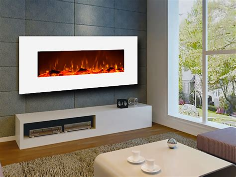 touchstone  ivory wall mount electric fireplace