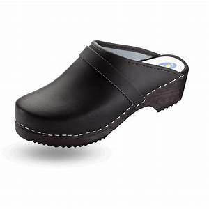 Sabot De Sécurité Femme : sabot su dois cuir noir et bois chaussure hopital sabot ~ Dailycaller-alerts.com Idées de Décoration