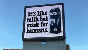 Oatly's billboards across Europe deliver powerful message ...