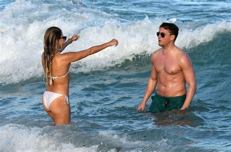 Sylvie Meis In Bikini On The Beach In Miami 01/01/2019
