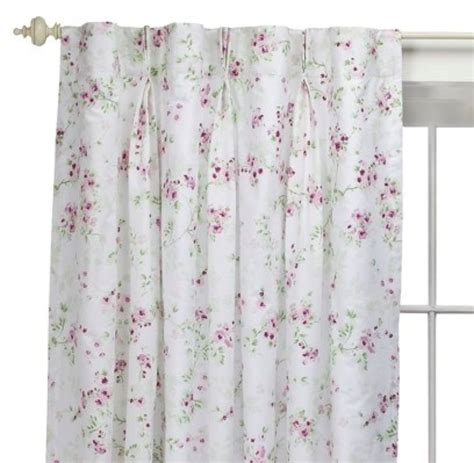 simply shabby chic pink pleat 2 simply shabby chic rachel ashwell cherry blossom pink rose drape panel curtain ebay