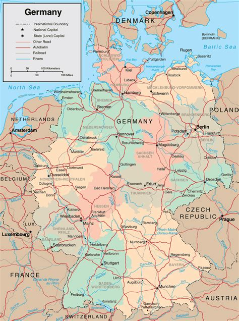 maps  germany  printable maps