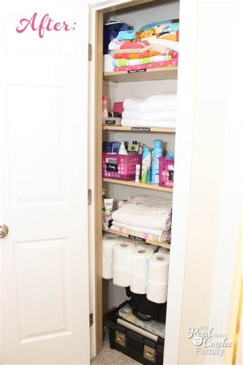 linen closet organization maximizing small spaces