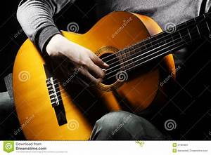 Guitar player stock image. Image of board, close ...