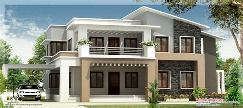 modern mix double floor home design kerala home design