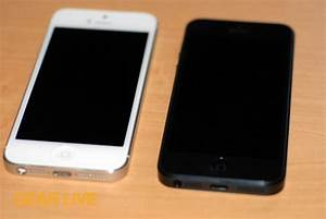 Black & White iPhone 5 front - iPhone 5 White vs. Black ...