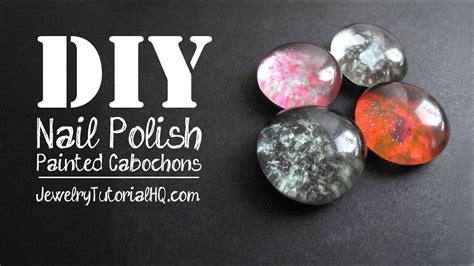 diy nail polish painted cabochons  jewelry making