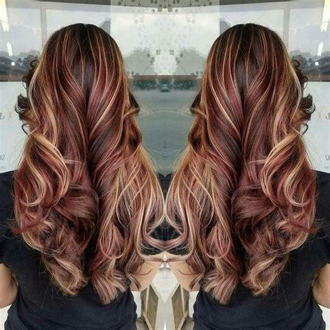 Hair Colors With Highlights by Hair Brown Hair Highlights Burgundy Hair