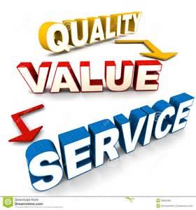 Quality Value Service Clip Art