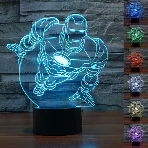 iron man table l new colourful iron man 3d table l luminaria led night