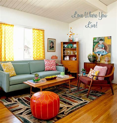 Mid Century Style Living Room  Home  The Bungalow