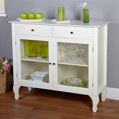 White Glass Sideboard by Antique White Sideboard Buffet Console Table With Glass