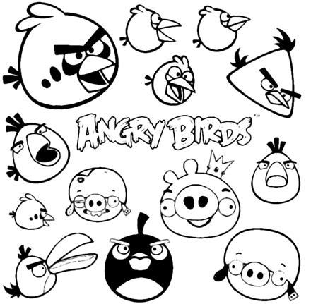 disegni  angry birds da colorare