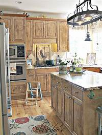 french country kitchen cabinets French Country Kitchen style Freshened up - Debbiedoos