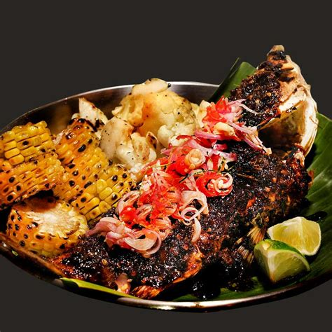 grilled charcoal grouper flower