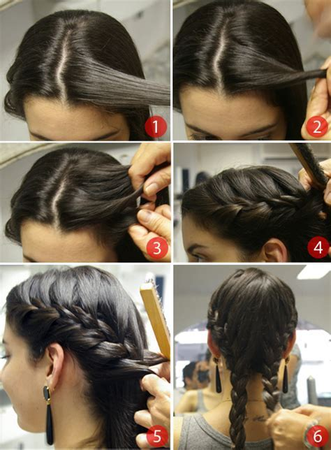 French Braid Pigtails Step By Step   LONG HAIRSTYLES