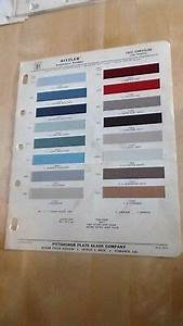 1962 Chrysler And Imperial Models Factory Color Chart