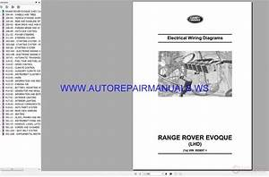 Land Range Rover Evoque Lhd Electrical Wiring Diagrams Manual Vin 955857 06