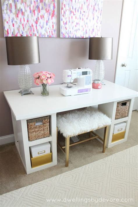 Ikea Desk Hutch Hack by 20 Cool And Budget Ikea Desk Hacks Hative