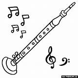Oboe Coloring Drawing Pages Instrument Instruments Musical Thecolor Music Drawn Starting Letter Sheet Getdrawings sketch template