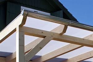 Terrassenberdachung Aus Holz Glas Leimholz Alu Bauen