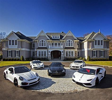 home with car mansions cars homes of the rich