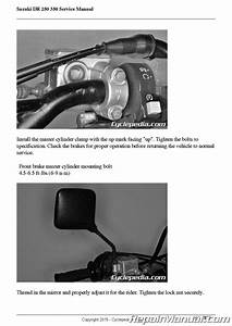 Cyclepedia Suzuki Dr350 Dr250 Print Motorcycle Service
