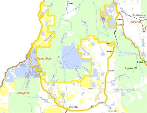 unit hunting idaho map zone elk weiser river tag