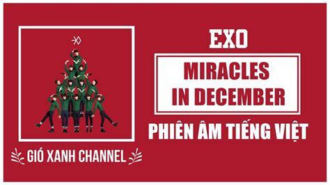 not angka lagu exo miracle in december phi 234 n 226 m tiếng việt miracles in december exo
