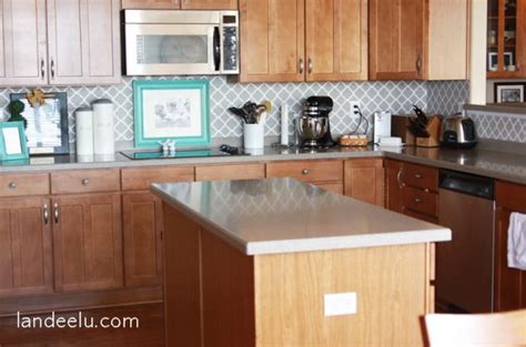 Easy Vinyl Backsplash For The Kitchen  Landeelucom