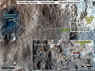 Mars Curiosity Rover Path